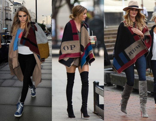 Vogue capes - Burberry Prorsum poncho from fall 2014